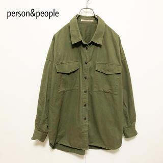 ☆【person&people】ミリタリーシャツ 美品(シャツ/ブラウス(長袖/七分))