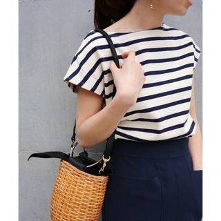 IENA - ボーダーフレンチスリーブTシャツ