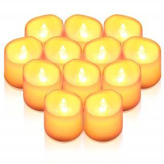 LED キャンドル ライト  ろうそく 癒しの灯り  揺らぐ炎 12個セット