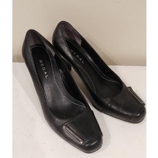 リーガル(REGAL)のリーガルREGAL靴パンプス ヒール7cm黒 中古(ハイヒール/パンプス)