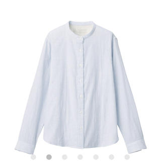 MUJI (無印良品) - インド綿二重ガーゼスタンドカラーシャツ