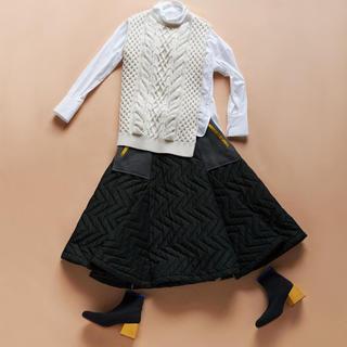 ENFOLD - ENFOLD エンフォルド   キルティング スカート