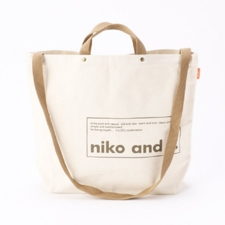 niko and... - niko and...トートバッグ新品