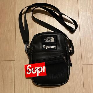 Supreme - Supreme TNF Leather Shoulder Bag Black