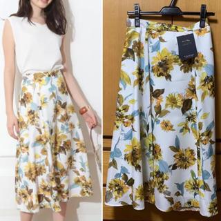 JUSGLITTY - 新品 ジャスグリッティー アートフラワープリントスカート 花柄スカート 綺麗目