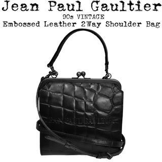 Jean-Paul GAULTIER - 美品★Jean Paul Gaultier★90s★がま口 ショルダーバッグ★黒