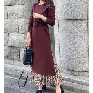 rienda - rienda  Pattern Pleats SET Knit OP