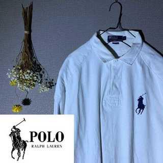 POLO RALPH LAUREN - POLO ポロ ラルフローレン ビッグロゴ 胸ロゴ ラガーシャツ