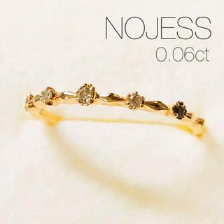 agete - 【NOJESS】K10YG 5石ダイヤモンドリング/0.06