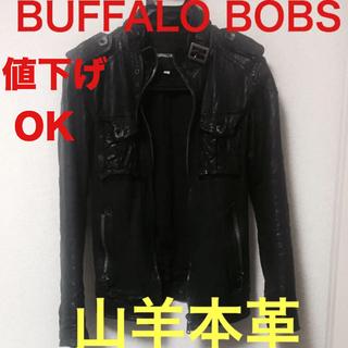 BUFFALO BOBS - BUFFALO BOBS 春物 S レザー 本革 山羊 シングルライダース 黒