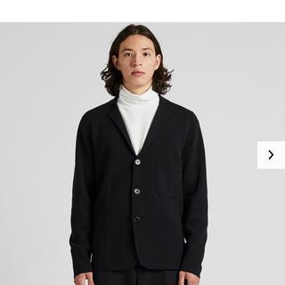 ユニクロ(UNIQLO)のユニクロユー ミラノリブジャケット XL ルメール Lemaire ブラック(ニット/セーター)