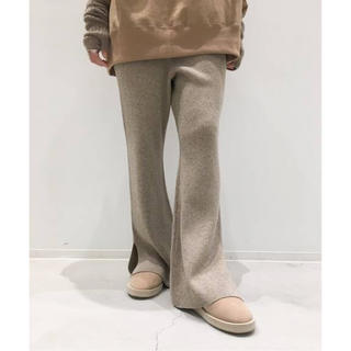 L'Appartement DEUXIEME CLASSE - KNIT PANTS (ベージュ)