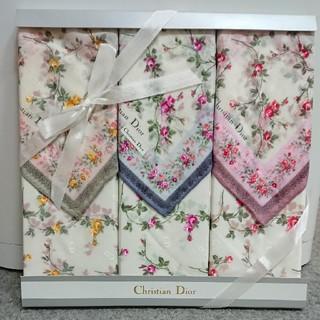 Christian Dior - 【新品】クリスチャンディオール ハンカチ 3枚セット