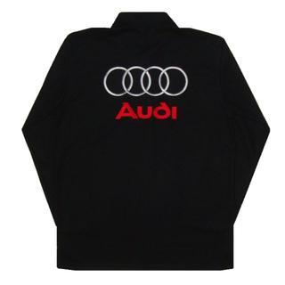 【送料無料】AUDI Sport アウディ 長袖ポロシャツ 黒 XLサイズ(ポロシャツ)