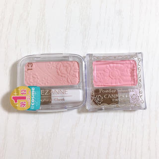 CANMAKE - キャンメイク パウダーチークスPW20 ロリポップピンク&セザンヌ チーク 13