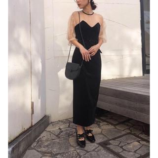 Ameri VINTAGE - 新品タグ付き TULLE SLEEVE TIGHT DRESS チュールベア