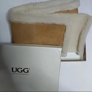 UGG - ugg マフラー 新品 キャメル ボア