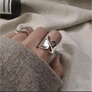 アメリヴィンテージ(Ameri VINTAGE)の大人気なため再入荷!tear drop ring silver925 (リング(指輪))