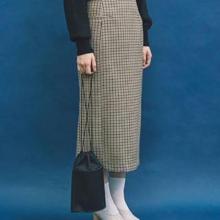 ノートエシロンス(note et silence)のノートエシロンス ガンクラブチェックタイトスカート(ロングスカート)