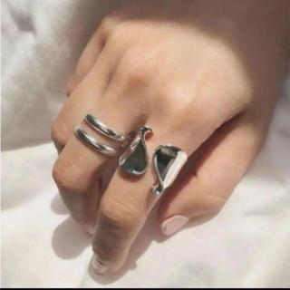 アメリヴィンテージ(Ameri VINTAGE)の大人気なため再入荷!tear drop ring silver925 2点セット(リング(指輪))