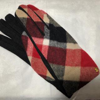 バーバリーブルーレーベル(BURBERRY BLUE LABEL)の新品タグ付 ブルーレーベル クレストブリッジ クレストブリッジ柄 手袋(手袋)
