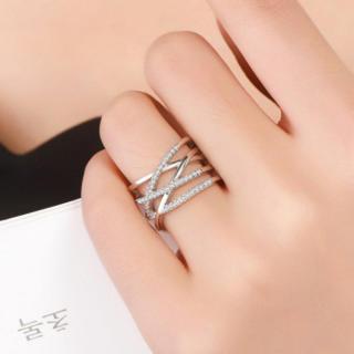 シルバー925 編みデザイン リング レディース 指輪(リング(指輪))