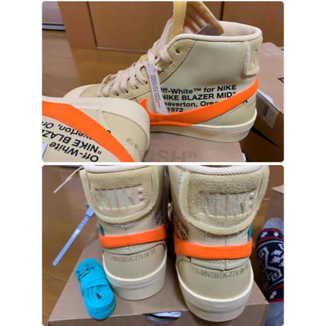 NIKE(ナイキ)のNIKE オフホワイト BLAZER MID メンズの靴/シューズ(スニーカー)の商品写真