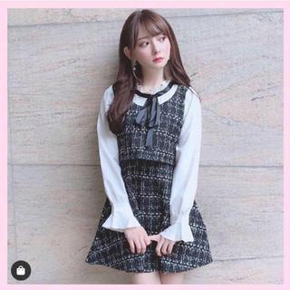 evelyn - 韓国ファッション🌹新品🌹ツィードワンピース