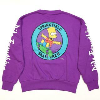 新品 Simpsons シンプソンズ バックプリント トレーナー スウェット L