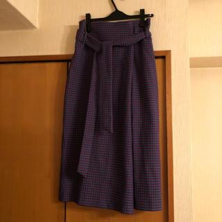 ZARA - ZARAチェック 巻きスカート