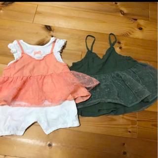 エフオーキッズ(F.O.KIDS)の子供服 80 110 女の子 姉妹 FO KIDS(ロンパース)
