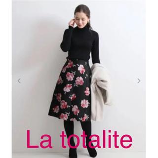 ラトータリテ(La TOTALITE)の新品未使用❤️ラトータリテ ジャガード 花柄 スカート(ひざ丈スカート)