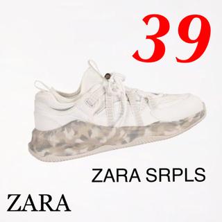 ZARA - 新品 完売品 ZARA SRPLS 39 カモフラージュ柄 ソール スニーカー