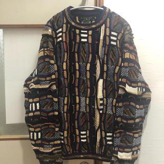 COOGI - 古着 クージー風 総柄 3D 立体編み ニット セーター クージー
