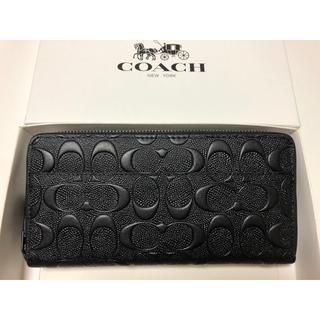 COACH - 新品未使用品★コーチ アコーディオン長財布 シグネチャー 74918 ブラック