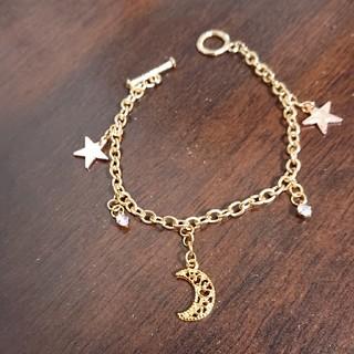 ❇️大胆お値下げ❇️星と月のゴールドブレスレット(ブレスレット/バングル)