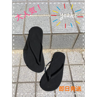 ビーチサンダル 黒(サンダル)