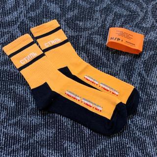ヘロンプレストン HERON PRESTON ソックス 靴下(オレンジ)