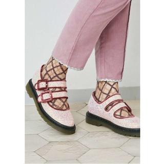 メリージェニー(merry jenny)のメリージェニー wベルトグリッター シューズ(ローファー/革靴)