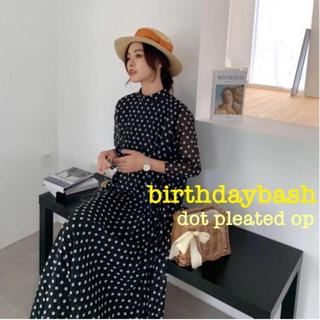 Drawer - birthdaybash バースデーバッシュ ドット プリーツドレス ワンピース