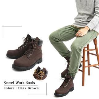 メンズブーツ トレッキングブーツ シークレットブーツ  靴 ダークブラウン(ブーツ)