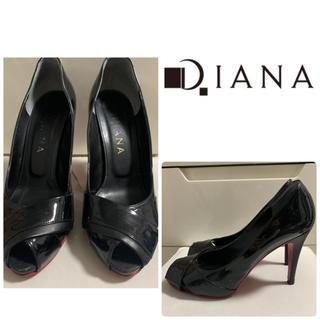 DIANA - ダイアナ ブラックエナメル   パンプス