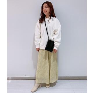 LOWRYS FARM - LOWRYSFARM センガラクルミボタンスカート イエロー Mサイズ 美品