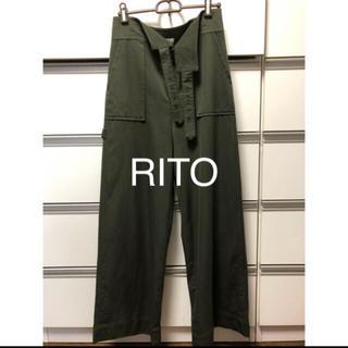 HYKE - Rito カーキパンツ 36