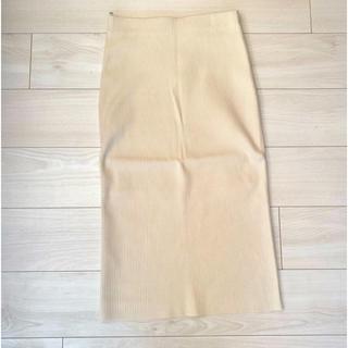 Mila Owen - ミラオーウェン タイトスカート ペンシルスカート ホワイト 膝丈スカート