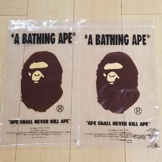 アベイシングエイプ(A BATHING APE)のエイプ APE ショッパー ショップ袋 2枚(ショップ袋)