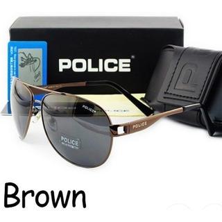 ポリス(POLICE)のカッコいい❗️ 新品♪ ポリス  偏向グラス 高級感のある落ち着いたブラウンが◎(サングラス/メガネ)
