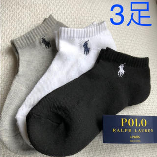 POLO RALPH LAUREN - ポロ ラルフローレン レディースソックス 3足組 靴下