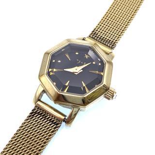 アガット(agete)のレディース 腕時計 ウォッチ 八角形 ステンレス スティール イエローゴールド(腕時計)