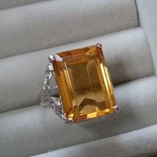 103 昭和レトロ 色硝子リング 透かし シルバーカラー ヴィンテージ(リング(指輪))